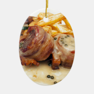 Meat meal ceramic ornament