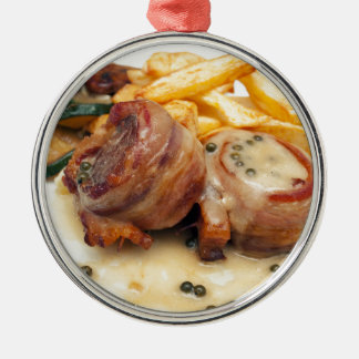 Meat meal metal ornament