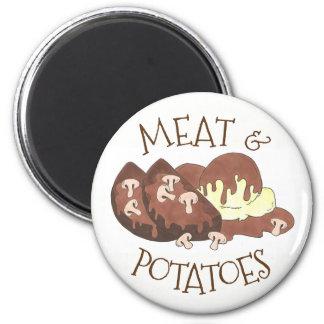 Meat & Potatoes Mushroom Gravy Diner Meatloaf Food Magnet