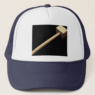 Meat tenderizing mallet in wood trucker hat