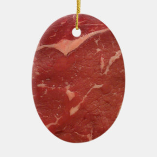 Meat Texture Ceramic Oval Ornament