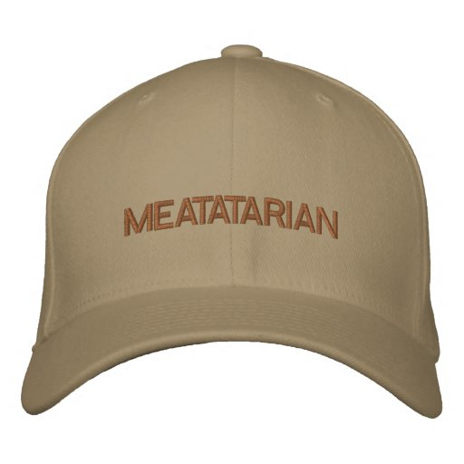 MEATATARIAN EMBROIDERED BASEBALL CAPS