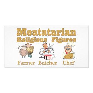 Meatatarian Religious Figures Photo Card Template