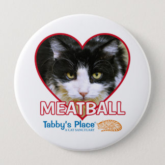"Meatball - Huge 4"" Pinback Button"