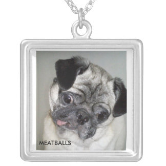MEATBALLS SILVER PLATED NECKLACE
