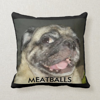 MEATBALLS THROW PILLOW