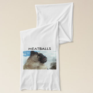 MEATBALLS White Jersey Scarf