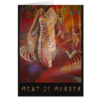 meatismurder greeting card