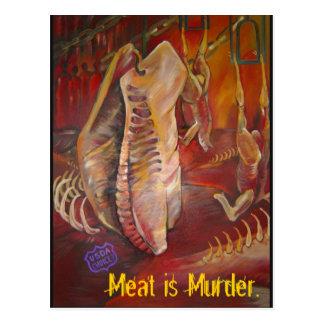 meatismurder postcard