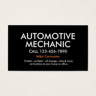 Mécanicien automobile audacieux simple cartes de visite