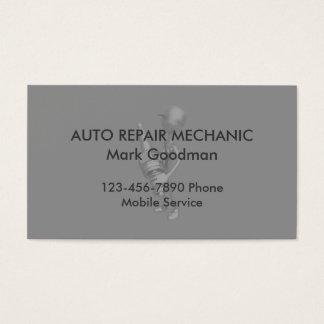 Mécanicien automobile simple cartes de visite