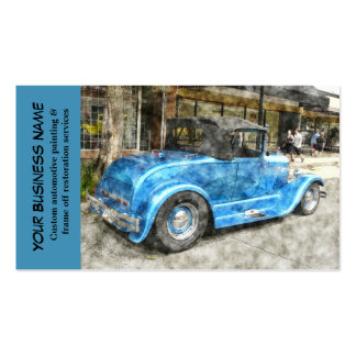 Mécanicien d'automobile classique bleu des carte de visite standard