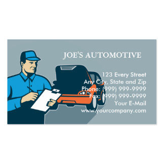 Mécanicien de réparation de voiture d'automobile carte de visite