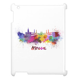 Mecca skyline in watercolor iPad cases