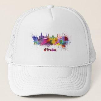 Mecca skyline in watercolor trucker hat