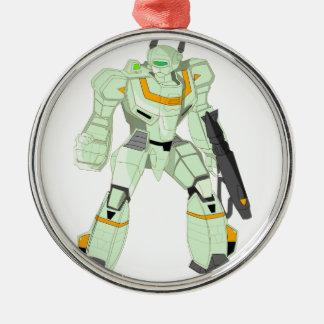 Mech Warrior Godzenant Metal Ornament