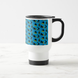 MECH-X4 Blue Pattern Travel Mug