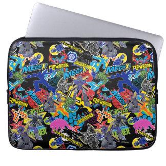 MECH-X4 Character Pattern Laptop Sleeve