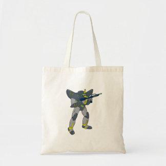 Mecha Robot Holding Ray Gun Isolated Budget Tote Bag