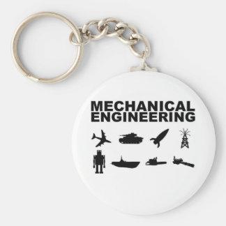 Mechaical Engineering Basic Round Button Keychain