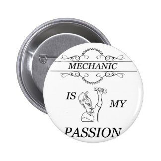 Mechanic 2 Inch Round Button