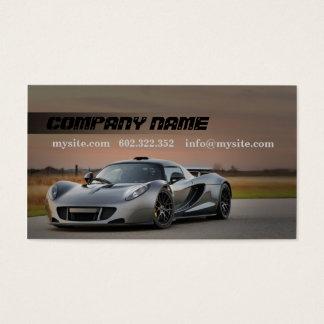 Mechanic Automotive Grey Car Business Card
