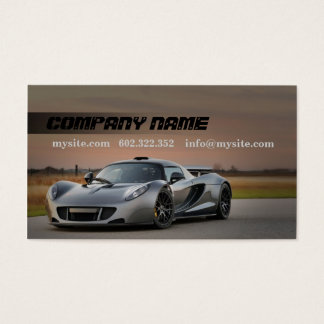 Mechanic Automotive Grey Car Fast Road Business Card