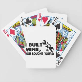Mechanic, built mine bicycle playing cards