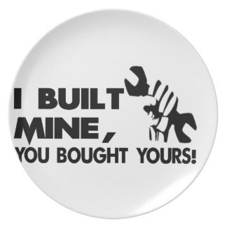 Mechanic, built mine dinner plate