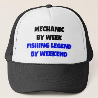 Mechanic by Week Fishing Legend By Weekend Trucker Hat