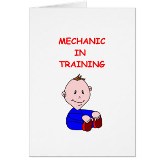 MECHANIC GREETING CARDS