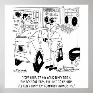 Mechanic Cartoon 9355 Poster