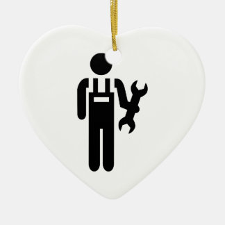 Mechanic Ceramic Heart Ornament