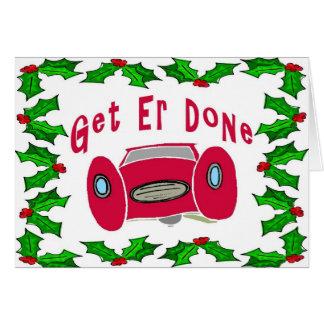 Mechanic Christmas Card