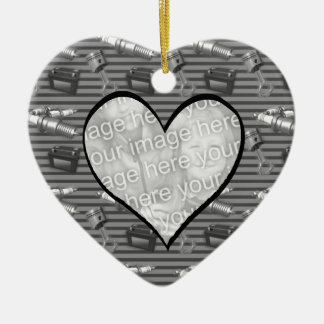 Mechanic Christmas Heart Photo Ornament