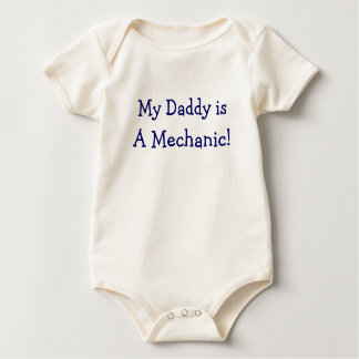 Mechanic Dad with Dirty Hand Prints On Back Baby Bodysuit