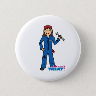 Mechanic Girl 2 Inch Round Button