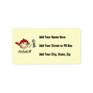 Mechanic Custom Address Label