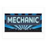 Mechanic Marquee Postcard