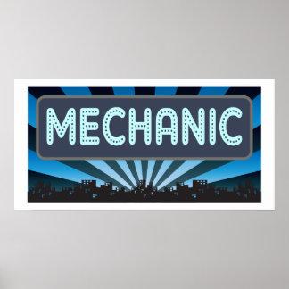 Mechanic Marquee Print
