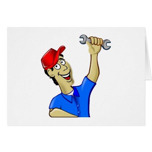 Mechanic mechanic mechanician greeting card