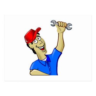 Mechanic mechanic mechanician postcard