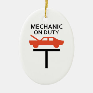 MECHANIC ON DUTY CERAMIC ORNAMENT