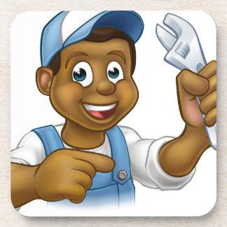 Mechanic or Plumber Handyman Drink Coaster