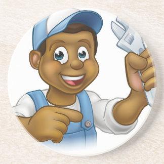 Mechanic or Plumber Handyman Drink Coasters