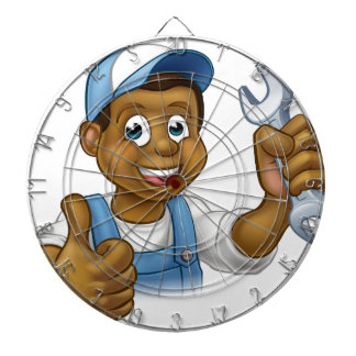 Mechanic or Plumber Handyman With Spanner Dart Boards