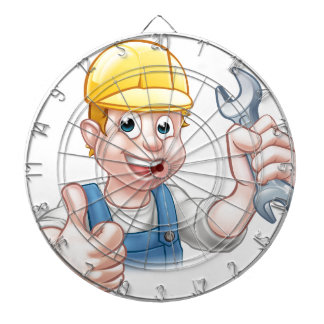 Mechanic or Plumber with Spanner Dart Board