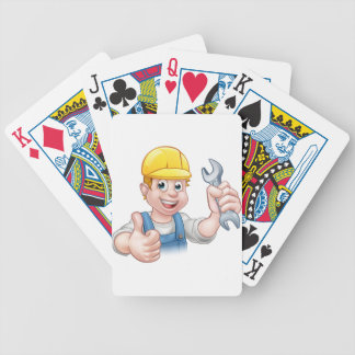 Mechanic or Plumber with Spanner Poker Deck