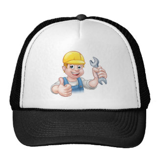 Mechanic or Plumber with Spanner Trucker Hat