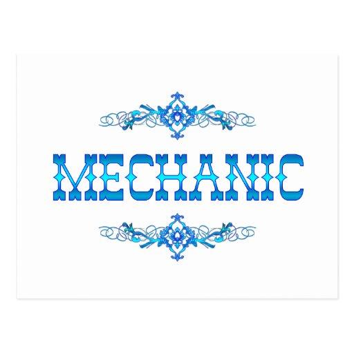 MECHANIC POSTCARD